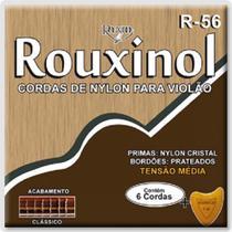 Encordoamento para Violão Nylon Rouxinol R-56 Tensão Média .028/.043 + Palheta -
