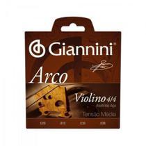 Encordoamento Para Violino GEAVVA Série Arco Aço Médio GIANN - Giannini -