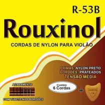 Encordoamento rouxinol violao r53b nylon media tensao preto/prateada -