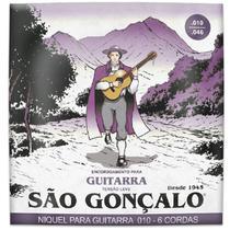 Encordoamento sao goncalo 010 niquel tensao leve p/guitarra - unidade - Sg