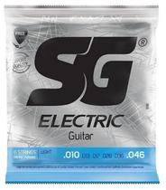 Encordoamento Sg Cordas 0.10 P/ Guitarra + Palheta / 1ª Mi -