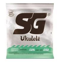 Encordoamento SG Cordas Para Ukulele Barítono de Nylon Branco 10984 -