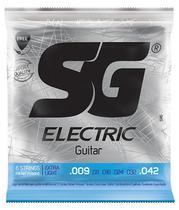 Encordoamento SG Guitarra 009 - Palheta + Corda Mi Extra -