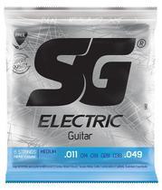 Encordoamento SG Guitarra 011 - Palheta + Corda Mi Extra -
