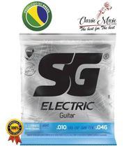 Encordoamento SG Guitarra Elétrica tensão:light 010 -