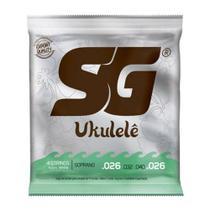 Encordoamento SG Náilon P/ Ukulele Soprano Branca - EC0256 - Sg strings