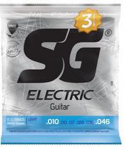 Encordoamento SG p/ Guitarra 010 Níquel Pack 3 unid. -