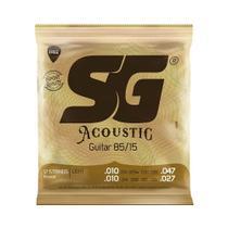 Encordoamento SG P/ Violão Aço 12 Cordas Bronze 85/15 10/47 - EC0468 - Sg Strings