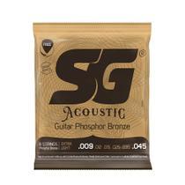 Encordoamento SG P/ Violão Aço Phosphor/Bronze Extra Light 9/45 - EC0469 - Sg Strings