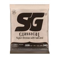 Encordoamento Sg P/violão Nylon 65/35 Prata Média c/ bolinha -