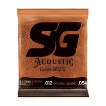 Encordoamento SG Violão Aço 012 Bronze 85/15 Tensão Média -
