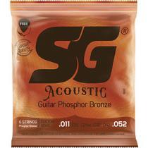 Encordoamento SG Violão Aço Fósforo/Bronze 011 SG6691 -