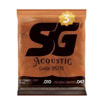 Encordoamento SG Violão Triple Pack 010 Bronze 85/15 - Light -