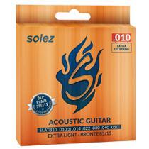 Encordoamento Solez SLATB10 010/050 Bronze para Violão Aço -