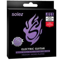 Encordoamento Solez SLG11 011/049 Média para Guitarra -