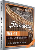 Encordoamento Strinberg Violão Aço WS11 011 -