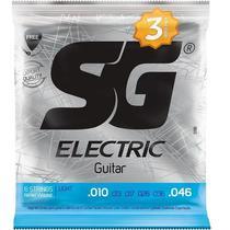 Encordoamento Triple Pack Light 0.10-0.46 Para Guitarra SG -