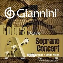 Encordoamento ukulele nailon branco - soprano / concert - Giannini