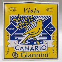 Encordoamento Viola 10 Cordas Aço Canario Giannini GESV -