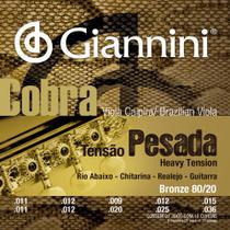 Encordoamento Viola Bronze 80/20 Rio Abaixo Série Cobra CV82H - Giannini -