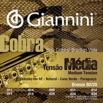 Encordoamento Viola Caipira Cebolão D Giannini Cobra 80/20 Bolinha CV82M -