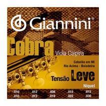 Encordoamento Viola Caipira Tensão Leve Cebolão Mi Giannini Cobra CV82L -