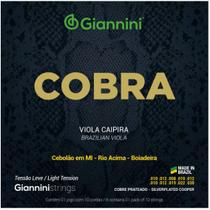 Encordoamento Viola Giannini Cobra Cobre Prateado GESVL Leve -