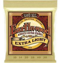 Encordoamento Violão 0.10 Ernie Ball 2006 Earthwood Extra Light -
