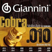 Encordoamento Violão 12 Cordas Aço Cobra Giannini -