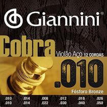 Encordoamento Violão 12 Cordas Giannini Cobra Phosphor Bronze GEEF12MF -