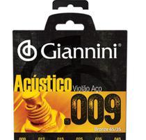 Encordoamento violão aço 0.009 bronze geswal acústico giannini -