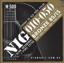 Encordoamento Violão Aço 0.10 NIG N-500 -