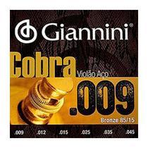 Encordoamento Violão Aço .009 Bronze 85/15 Giannini Cobra GEEWAK -