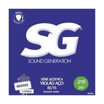 Encordoamento Violão Aço 009 Bronze Série Acustica SG 6684ERD -