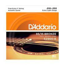 Encordoamento Violão Aço .010 Bronze 85/15 Extra Light Daddario EZ900B -