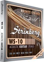 Encordoamento Violão Aço 0,10 WS10 Strinberg -