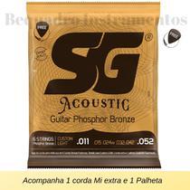Encordoamento Violão Aço 011 SG Phosphor Bronze -