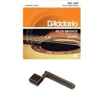 Encordoamento Violão Aço Daddario .010 EZ900 + Encordoador -