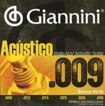 Encordoamento Violão Aço Giannini 009 Bronze GESWAL -