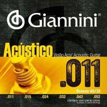 Encordoamento Violão Aço Giannini 011 Bronze GESPW -