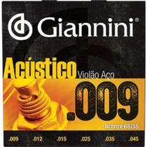 Encordoamento Violão Aço Giannini Bronze 65/35 0.09 -