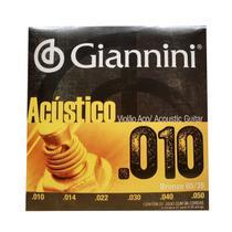 Encordoamento Violao Aco Giannini Bronze Geswam 0.10 -