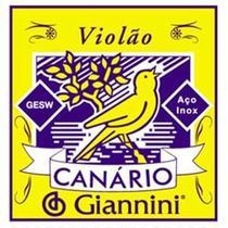 Encordoamento Violão Aço Giannini Canário Com Chenilha GESW -