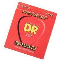 Encordoamento violão aço red devils vermelha 0.13 rda-13 - dr strings -