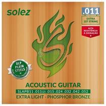 Encordoamento Violão Aço Solez Phosphor Bronze 0.011'' -