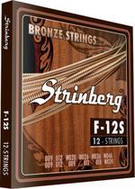 Encordoamento Violao Aço Strinberg 12 Cordas F12S -