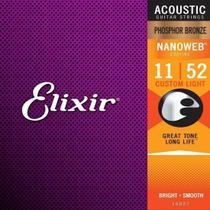 Encordoamento Violao Elixir 16027 Aco .011-.052 Nanoweb - Phosphor Bronze -