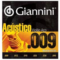 Encordoamento Violão Em Aço .009 Geswal Acústico Giannini -