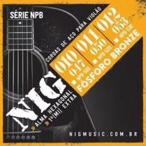 Encordoamento Violão Folk Aço 011 Npb520 Fósforo Bronze Nig -