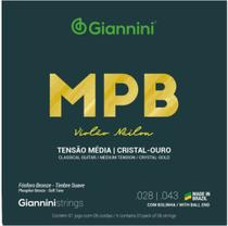Encordoamento Violão Náilon Giannini MPB Bronze GENWG Média -